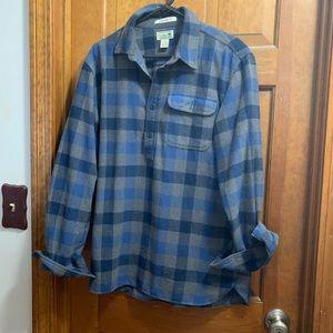 LLBean Men's pullover flannel shirt